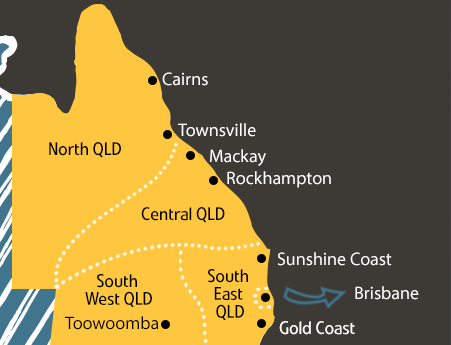 Map of Queensland