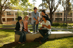 A group of International Students at the University of New England
