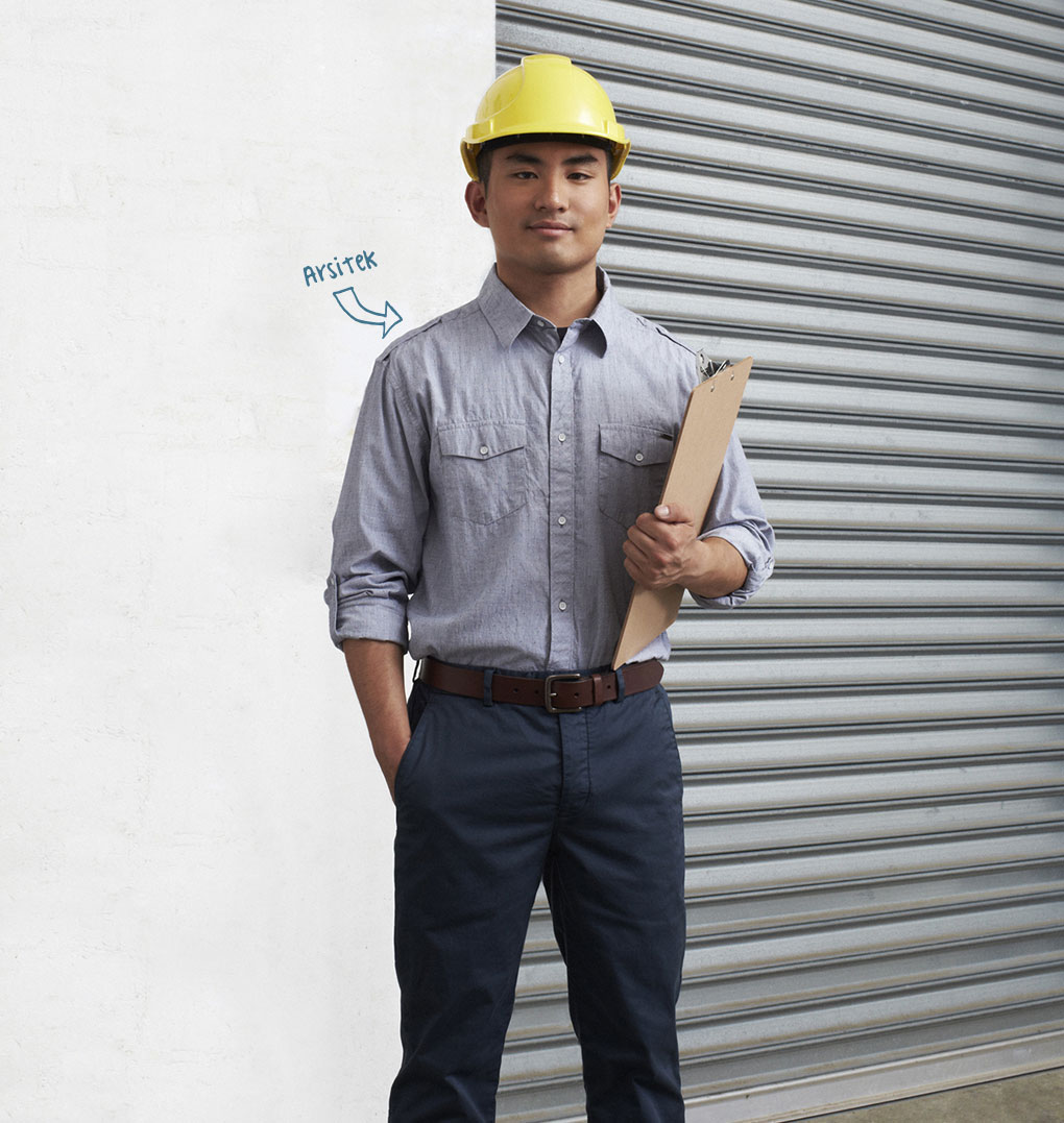 Photo of young man, profession indicated as Architect