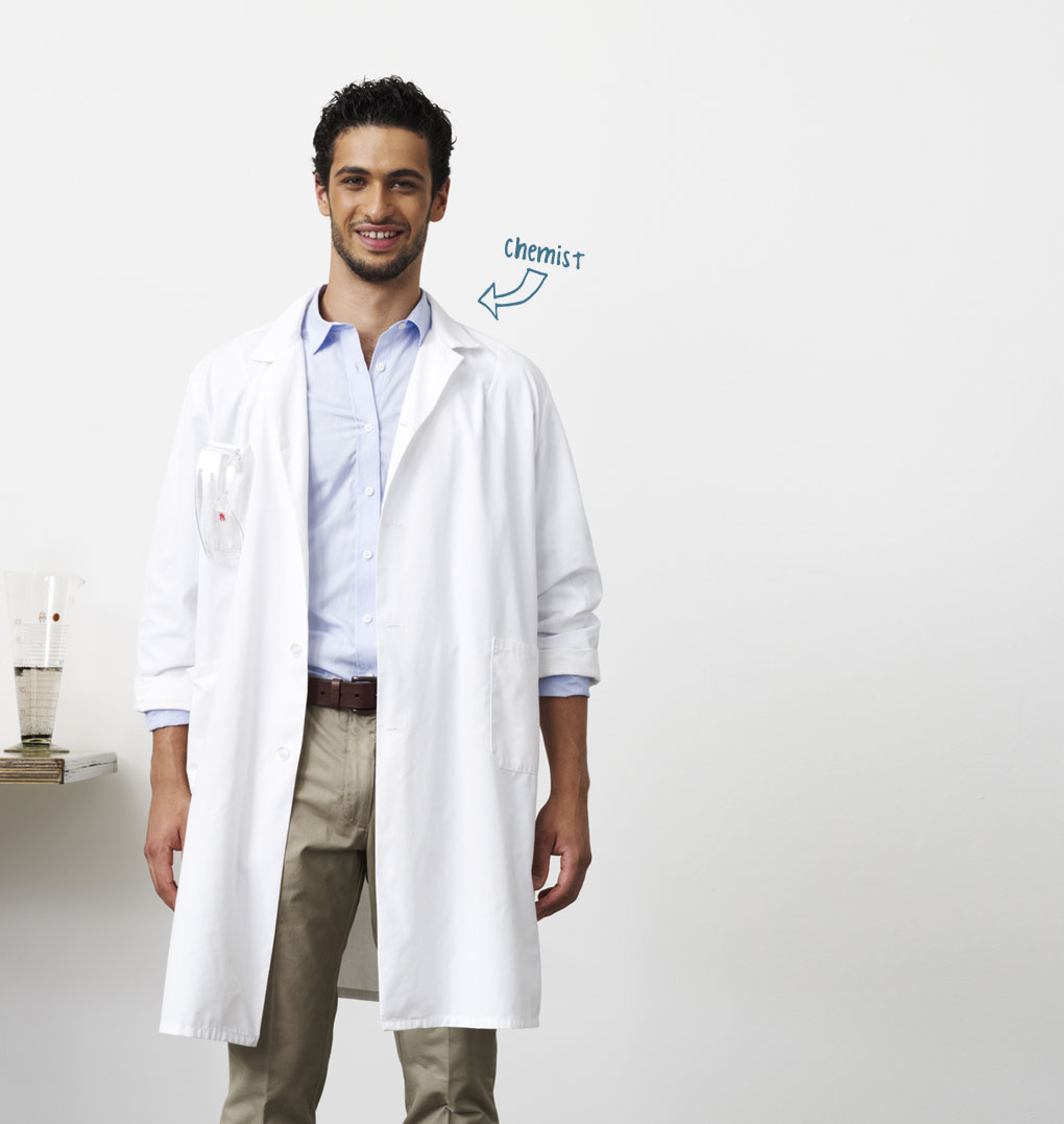 Photo of young man, profession indicated as Chemist